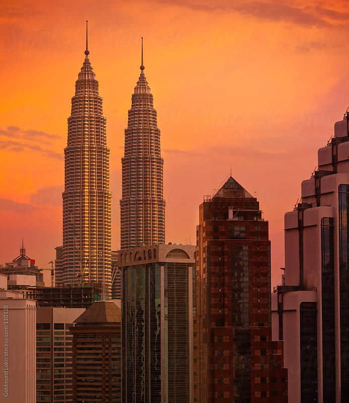 Twin Towers in Kuala Lumpur by Goldmund Lukic for Stocksy United