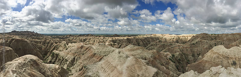 Panoramic view of Badlands National Park, USA by Adam Nixon for Stocksy United