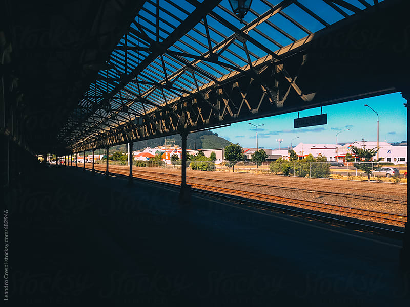 Empty train station in Dunedin by Leandro Crespi for Stocksy United