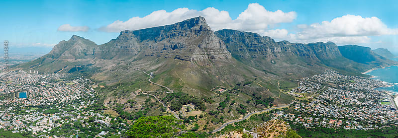 City of Cape Town and Table Mountain panoramic, South Africa by Micky Wiswedel for Stocksy United