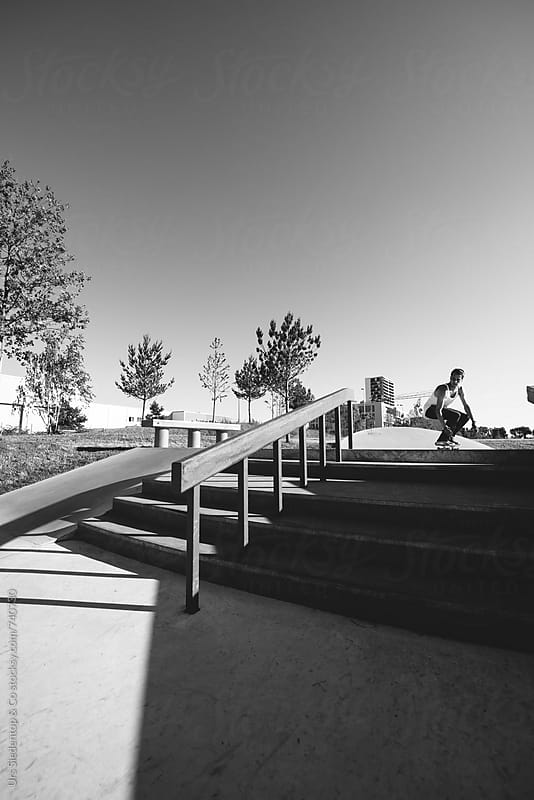 Skateboarding inrun by Urs Siedentop & Co for Stocksy United