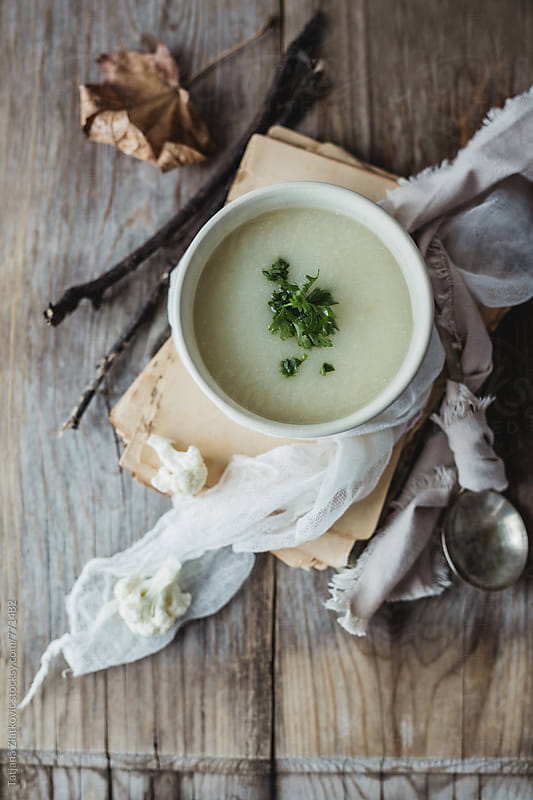Cauliflower soup by Tatjana Ristanic for Stocksy United