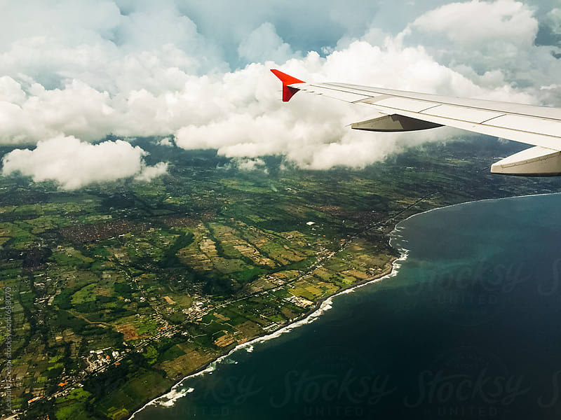 Amazing landscapes seen from an airplane by Leandro Crespi for Stocksy United