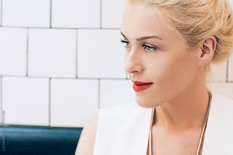 Portrait of a Blonde Woman by Lumina for Stocksy United