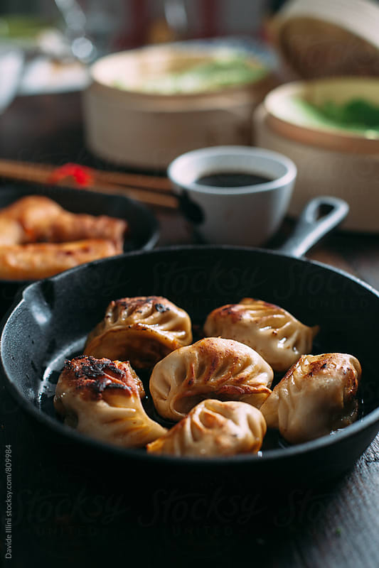 Roasted Chinese Dumpling by Davide Illini for Stocksy United