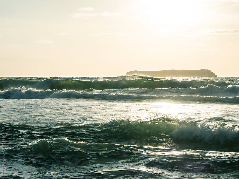 Sunlight coming through waves by DV8OR for Stocksy United