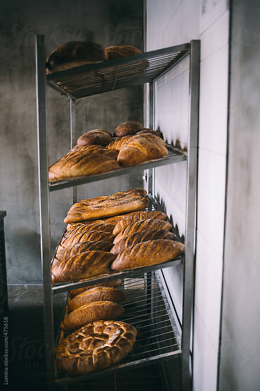 Bread on a Bakery Shelf by Lumina for Stocksy United
