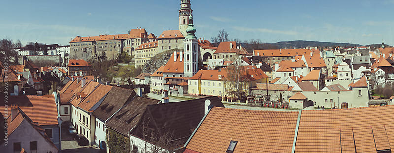 Panorama of Cesky Krumlov.Czech republic by Robert Kohlhuber for Stocksy United
