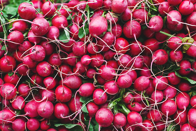 Red beetroot on an organic market.  by BONNINSTUDIO for Stocksy United