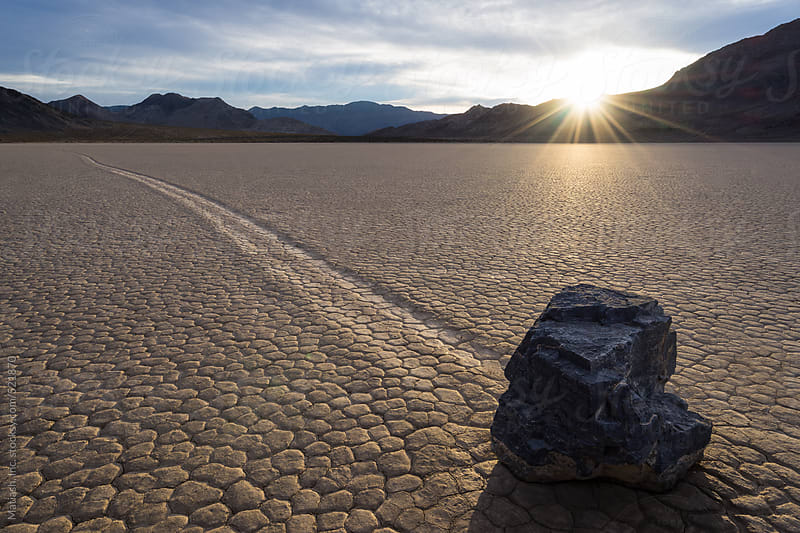 The Sailing Stone of Racetrack Playa by Matiash, Inc. for Stocksy United