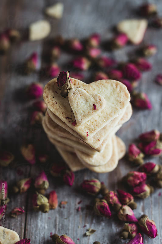 Heart shaped cookies by Tatjana Zlatkovic for Stocksy United