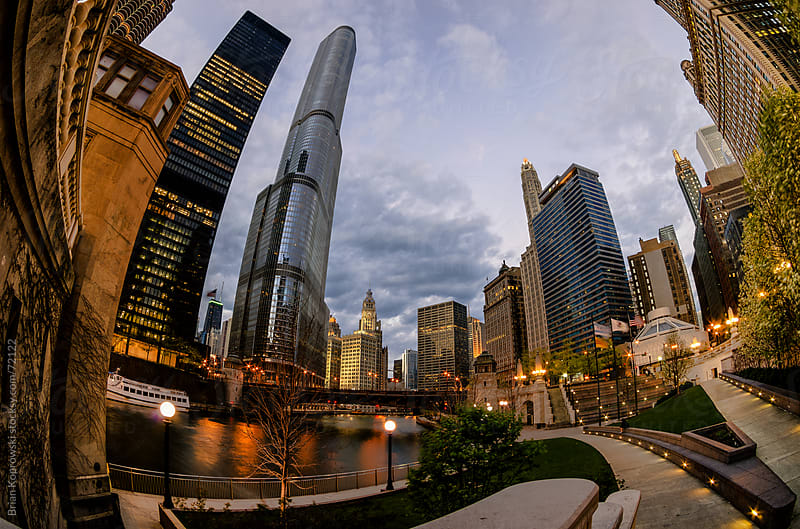 Fish-eye City of Chicago by Brian Koprowski for Stocksy United
