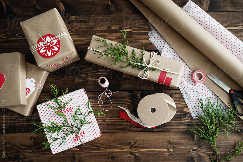 Holiday Gift Wrap Background by Cameron Whitman for Stocksy United