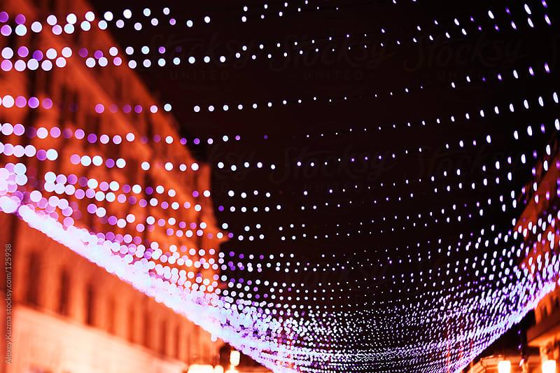 Christmas lights by Alexey Kuzma for Stocksy United