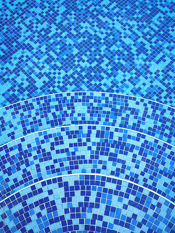 Swimming pool tiles background by Pixel Stories for Stocksy United