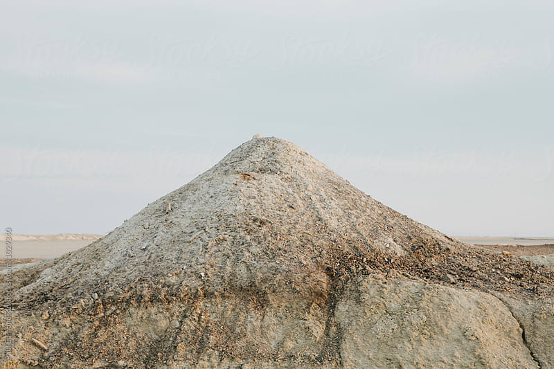 Tailing pile from chloride mine, near Wendover, UT by Paul Edmondson for Stocksy United