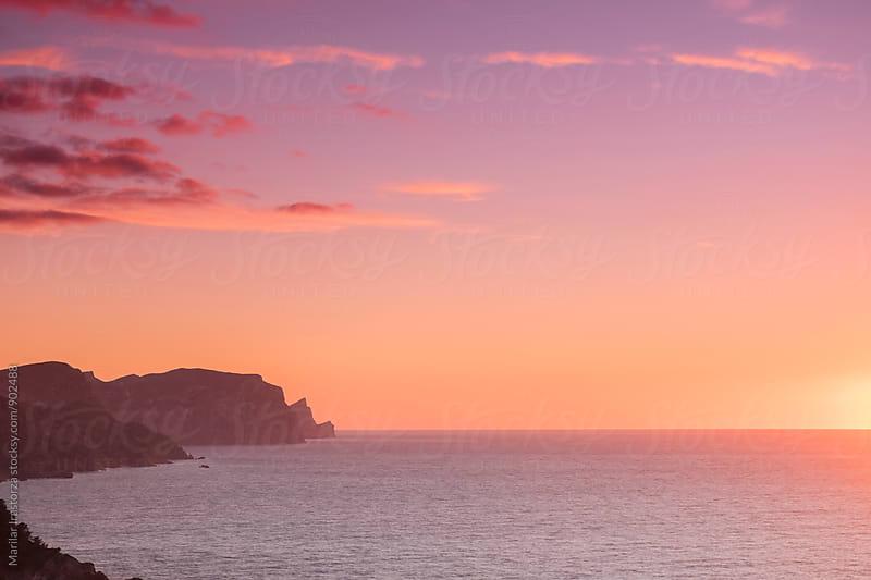 Coast at sunset by Marilar Irastorza for Stocksy United