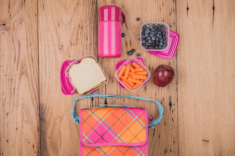 Healthy Packed School Lunch by suzanne clements for Stocksy United