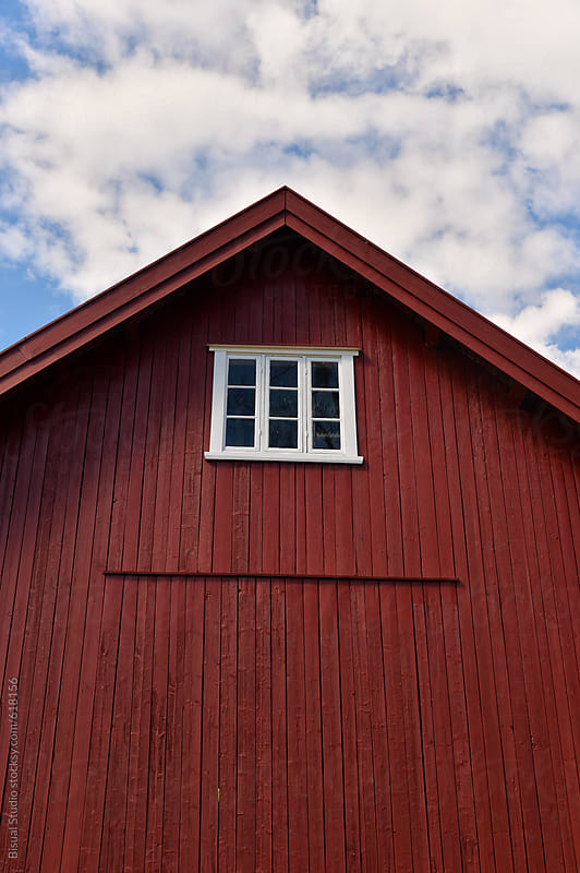 Facade of a Norwegian farm by Bisual Studio for Stocksy United
