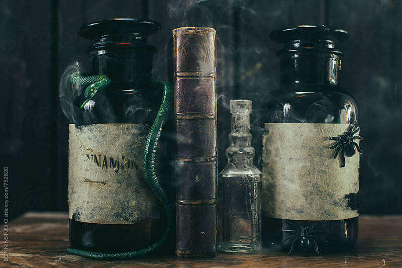 Halloween decor. Witch's potion. by BONNINSTUDIO for Stocksy United