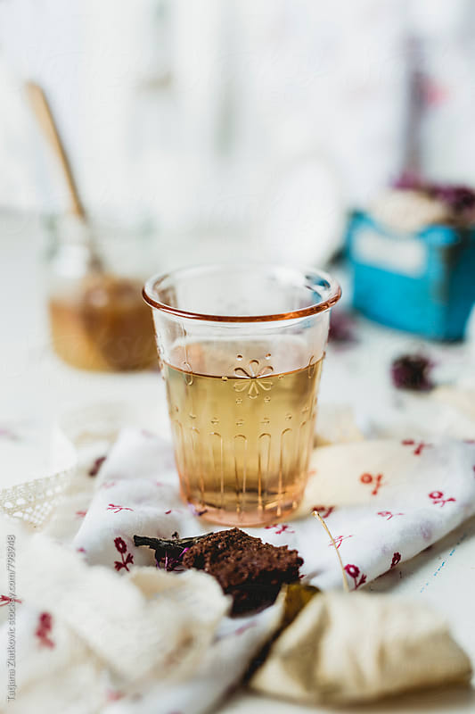 Echinacea tea by Tatjana Zlatkovic for Stocksy United