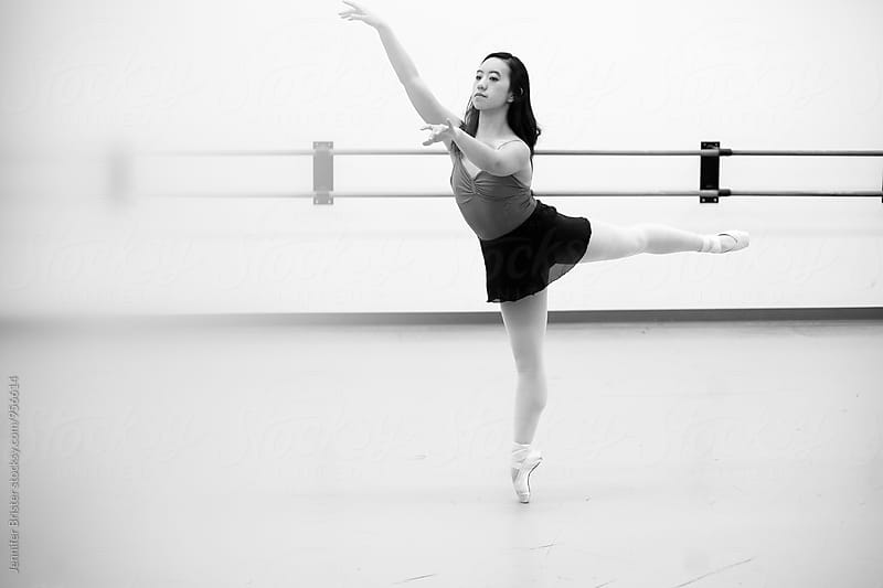 Graceful young female dancer by Jennifer Brister for Stocksy United