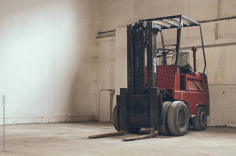 Red Forklift by Branislav Jovanović for Stocksy United