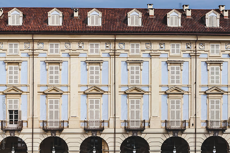 Elegant Palace Facade in Turin, Italy by Giorgio Magini for Stocksy United