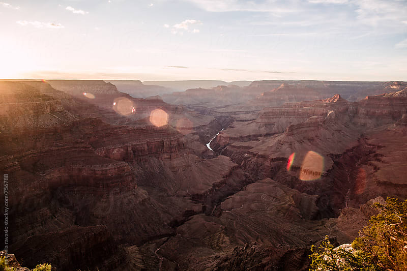 Grand Canyon National Park at sunset by michela ravasio for Stocksy United