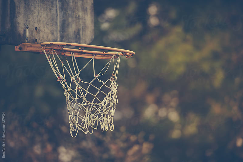 Old Basketball Hoop at an Abandoned Court by Ron Adair for Stocksy United