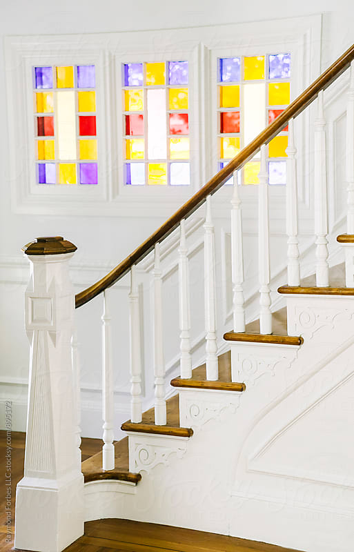 Elegant Residential Staircase by Raymond Forbes LLC for Stocksy United