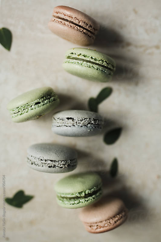 Overhead of macarons by Török-Bognár Renáta for Stocksy United