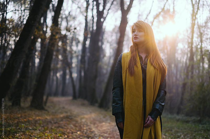 Woman Enjoying Early Morning in the Forest by Mosuno for Stocksy United