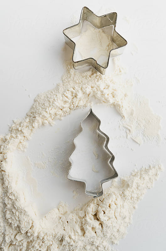 Christmas cookie cutters by Alessio Bogani for Stocksy United