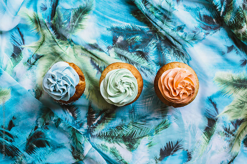 cupcake still life by Thais Ramos Varela for Stocksy United