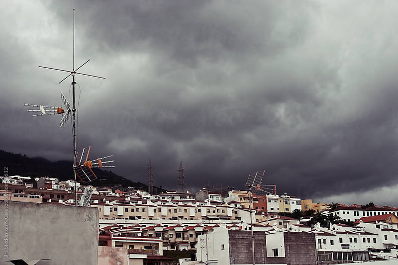 Dark clouds in Santa Ursula Tenerife by Urs Siedentop & Co for Stocksy United