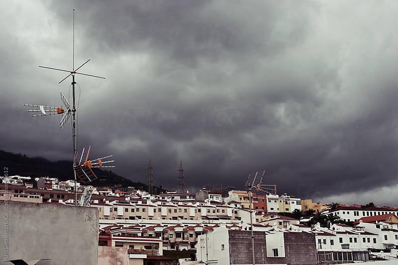 Dark clouds in Santa Ursula Tenerife by Urs Siedentop & Co for Stocksy United