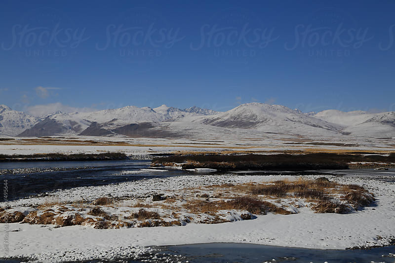 The Fresh snow at Deosai National Park in winter by Yasir Nisar for Stocksy United