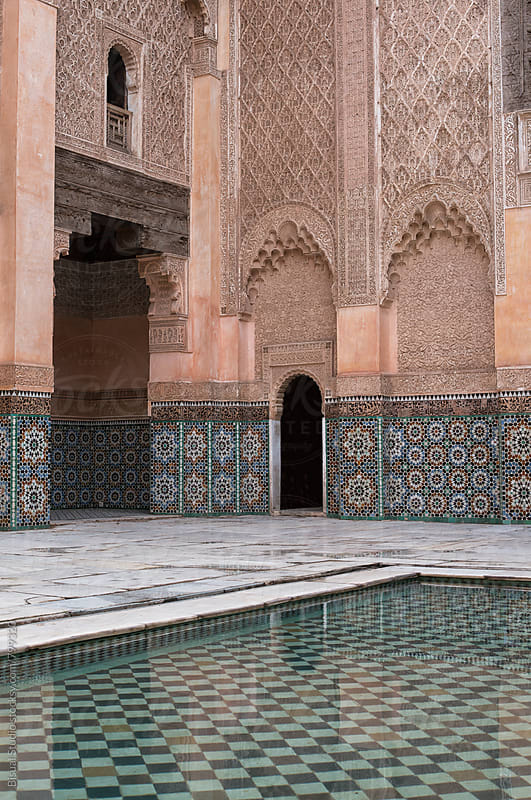 Courtyard of Ben Youssef Medersa in Marrakech by Bisual Studio for Stocksy United