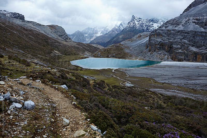 beautiful lake in the mountain by cuiyan Liu for Stocksy United