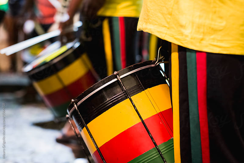 Musicians playing Samba Music. Brasil. by Mauro Grigollo for Stocksy United
