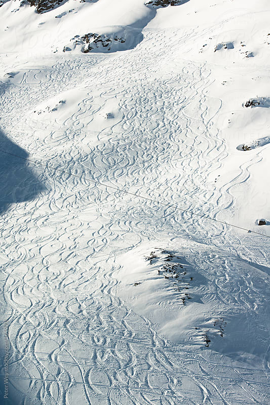 Ski tracks by Peter Wey for Stocksy United