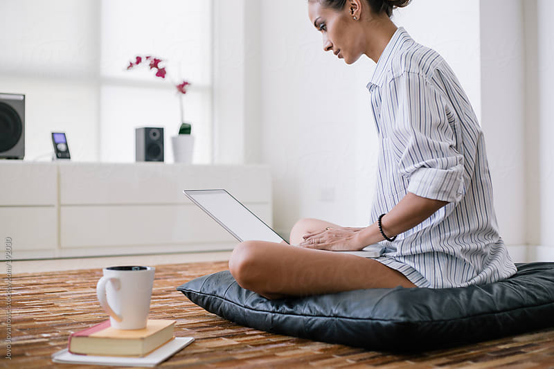 Woman's work - woman working from home by Jovo Jovanovic for Stocksy United