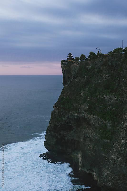 Uluwatu temple on a cliff, Bali. by BONNINSTUDIO for Stocksy United