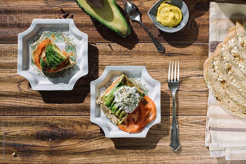 Overhead Shot of a Healthy Vegetarian Meal by Mosuno for Stocksy United