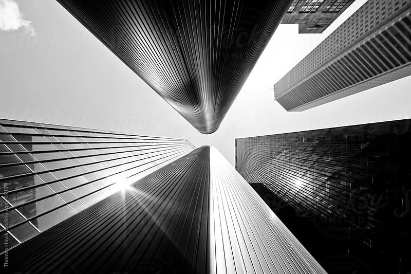 Houston Looking up sky scrappers by Thomas Hawk for Stocksy United