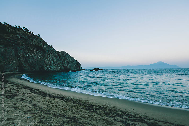 Greek bay by dusk by Aleksandar Novoselski for Stocksy United