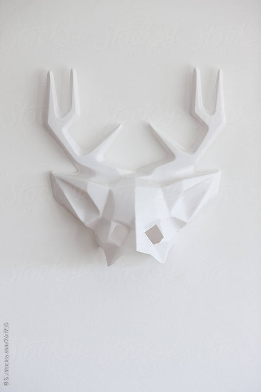 White deer face mask by B & J for Stocksy United