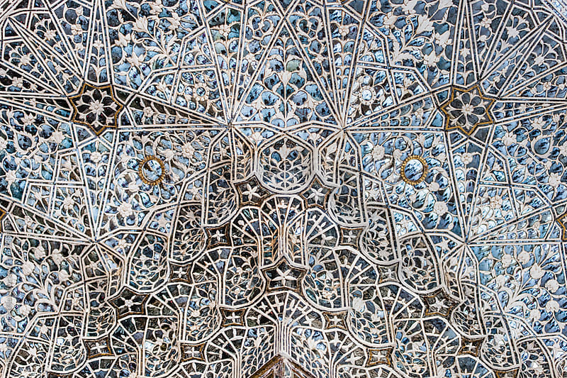 Arabic Mosaic Pattern Wall In Amber Fort by Alexander Grabchilev for Stocksy United