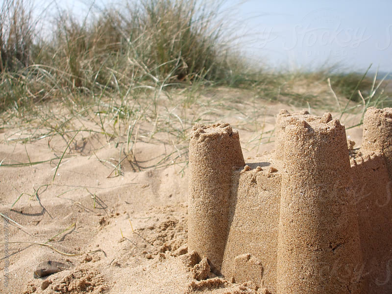 Sandcastle in the Dunes by Kirsty Begg for Stocksy United